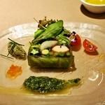 イルバンボリーノ - 2014.11 オマール海老と帆立、野菜のテリーヌ タプナードソース(1,500円)