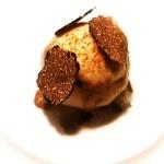 マンサルヴァ - フォアグラと鶏のムースを詰めた、小蕪のsfera トリュフの芳香