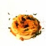 マンサルヴァ - カチョ・エ・ペペを手打ちトンナレッリで 3種の甘味のアクセント