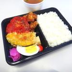 まごころ弁当 - 料理写真:ハンバーグ&鳥の唐揚げ弁当
