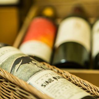 多種にわたるワイン揃えております