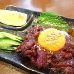 32361075 - 桜ユッケ 馬肉最高!