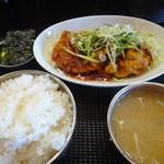 韓家 よっこらしょっ - ロースからし焼き定食