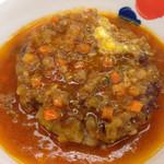 32364095 - 香味野菜のミートソースハンバーグ