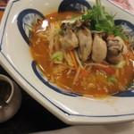 リンガーハット - かきちゃんぽん(トムヤムクン風スープ)レギュラー¥990(税別)クーポン¥100引き