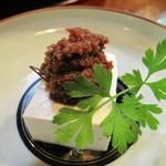 ビストロまん坊 - 赤キャビア。                             これは、赤まんぼうの卵だそうです。