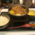吉野家 - 2013年冬限定「牛すき鍋膳」です。