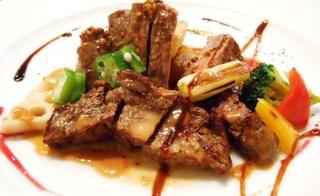 阪南洋風食堂クゥクゥ - ランチ 週替ランチコース 牛フィレ肉ステーキ
