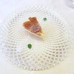 リストランテ アニモフェリーチェ - クリームチーズのムース、りんご煮