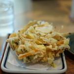 むさしの エン座 - 練馬産の野菜のかき揚げ