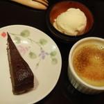 レストランMOMO - バニラアイス ガトーショコラ クリームブリュレ