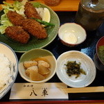 和料理 八車 - カキフライ定食