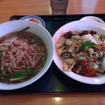 一龍 - ラーメンランチ(^^)台湾ラーメンと回鍋飯
