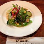 ひ風水 - ランチのサラダ