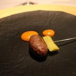 レストラン サンパウ - 士別産仔羊のハンバーグ