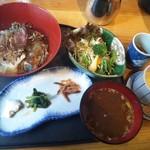 Yahiromarunishikikou - 141028漁師の漬け海鮮丼850円