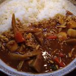 32382984 - 蒸し鶏と根菜の和風カレー ¥820 + 2辛 ¥42