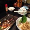 天野屋 - 料理写真:食べかけでごめんなさい。鯖塩焼き、塩辛。串も美味しかった!優しいお母さんとお父さんがやってるよ。雰囲気もいい!