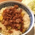 くしやき亭 - 小江丼780円 さつまいもが名物らしく、豚肉と絡めた丼