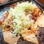 32385613 - 看板メニューの鶏ちゃん焼き☆
