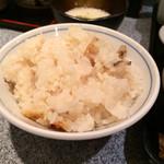 銀座 ハゲ天 - 炊込みごはん(お替り無料)