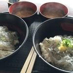 田子の浦港 漁協食堂 - W生しらす丼