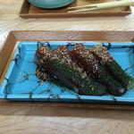 塚本みやげ店 - 味噌田楽。甘口のお味噌が美味しかったです。