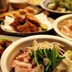 鶏の匠 - スープが選べる牛もつ鍋コース。飲み放題付クーポン利用で4000円!