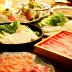 鶏の匠 - 岩中豚しゃぶしゃぶor美桜鶏すきやき。選べる鍋コース飲み放題付クーポン利用で4500円!