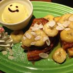 NEW YORK.NY - woodsweet☆焦がしキャラメルソースとバナナのフレンチトースト。
