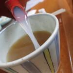 蕎麦や漱石 - 蕎麦湯も美味しい。