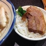 烈志笑魚油 麺香房 三く - 角煮ごはん大盛り!この照り^^
