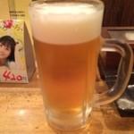 ジョニーのからあげ - 生ビール ※2014年11月