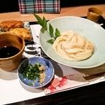 32407425 - 【ラリー限定】うどん(小)+鶏天+デザート