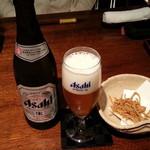 くりや - ビール 600yen