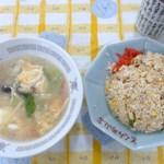 とくみ - (2014-11-8)チャーハン+玉子スープ
