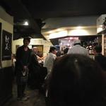 地酒と料理 高田馬場研究所 - 新政酒造の佐藤祐輔社長のご挨拶から会は始まりました (2014/10)