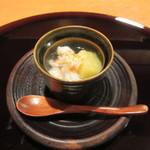 32416754 - 銀杏豆腐に車海老の銀餡かけ