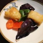 32418989 - 長茄子と山芋のマリネ