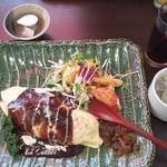 キッチンゴン - オムライス、スープ、サラダ、ドリンク