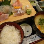 3242787 - 地魚の刺身盛り合せ定食