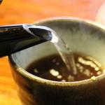 蓼 - 蕎麦湯