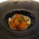 キメラ - 塩漬け琵琶鱒とレンコンのピクルス(2014.10)