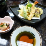 木器亭 - 造りと天ぷら定食v(。・ω・。)
