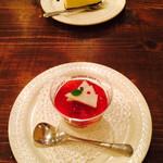 32427089 - ニューヨークチーズケーキと豆乳杏仁豆腐
