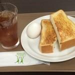 ホリーズカフェ - モーニングセット380円