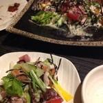 粋酔 - 海鮮サラダ¥680。マグロ、サーモン、タコといった種類の、刺身の角切りがたくさん入っていて美味しかった!
