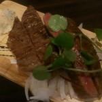 ハルバル - イチボの鉄板ステーキ