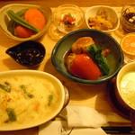 32439089 - 栄養士の晩ごはん♪選べるご飯から玄米ドリアを選択♪