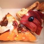 32445091 - 左:柿と生キャラメルのタルト 右:林檎のキッシュ